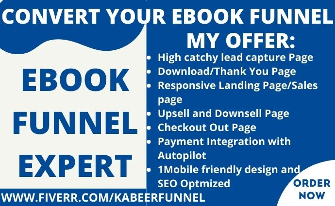 I will I will design ebook landing page, create ebook landing page,, FiverrBox