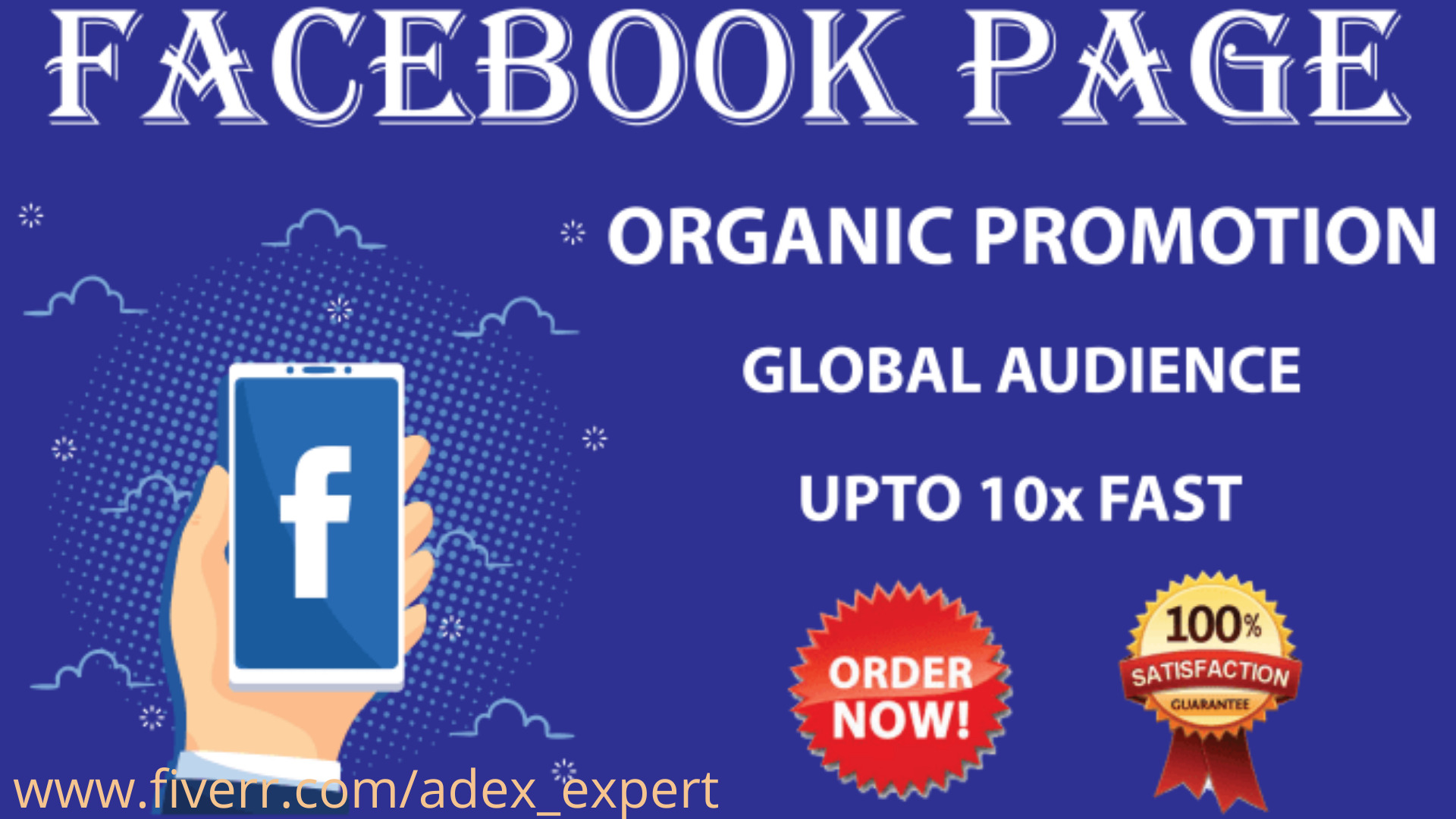 I will organically promote and market your facebook business page, FiverrBox
