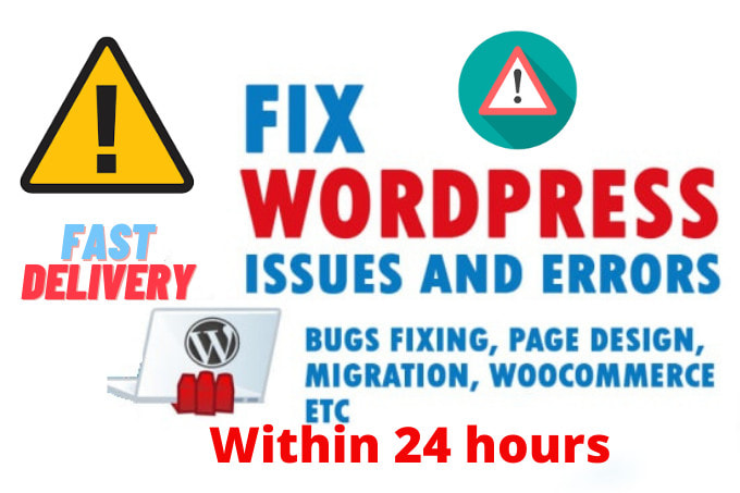 I will fix wordpress issues, responsive errors, bugs within 24 hours, FiverrBox
