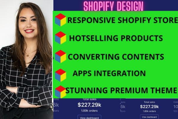 design shopify store shopify website design, FiverrBox