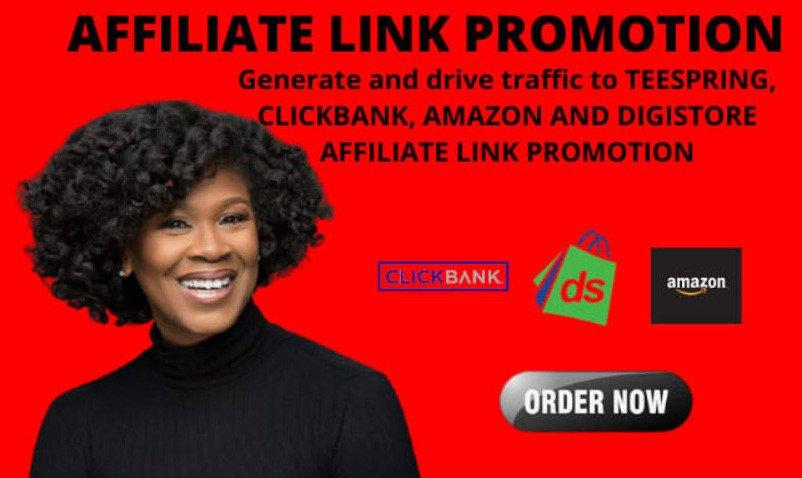 I will share link promotion, affiliate link promotion, FiverrBox