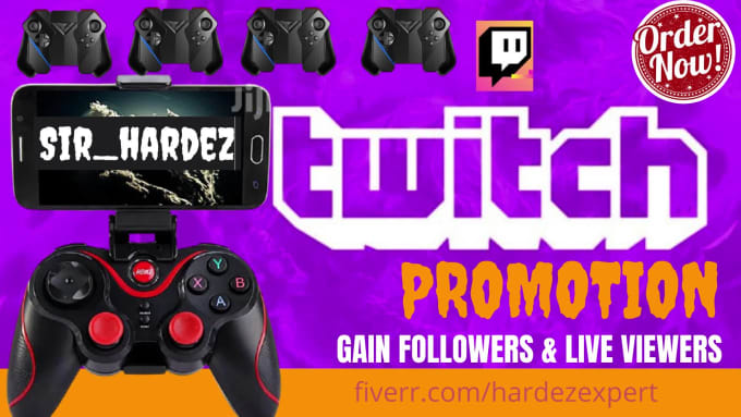 I will organically promote your twitch channel to gain active viewers, FiverrBox