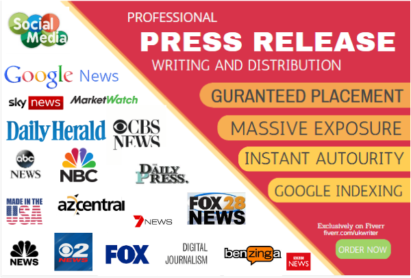 I will do press release distribution and press release writing, FiverrBox