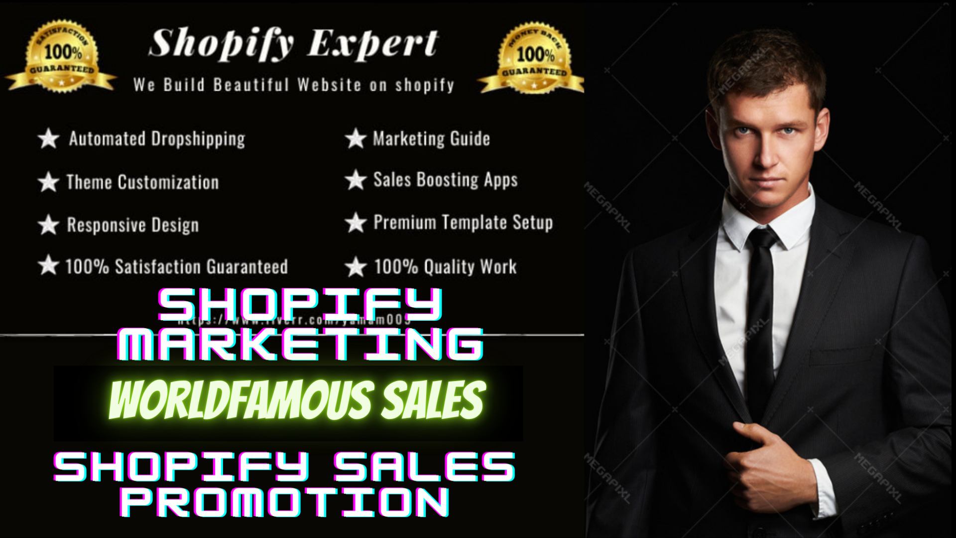 I will do shopify marketing promotion and traffic klaviyo email flows fb, FiverrBox