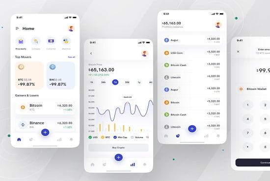 I will develop crypto tracking app, blockchain app, FiverrBox