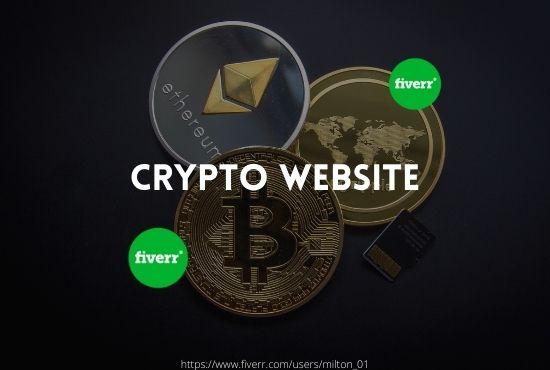 I will setup crypto landing page crypto website crypto logo crypto ico, FiverrBox
