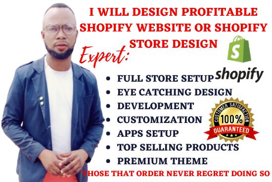 I will design profitable shopify website or shopify store design, FiverrBox