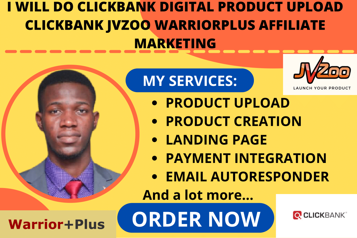 I will clickbank autopilot digital product upload,jvzoo warriorplus affiliate marketing, FiverrBox