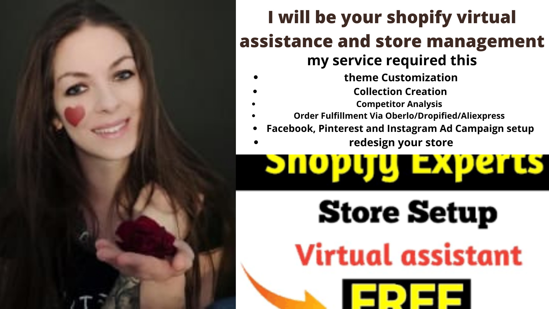 I will be your shopify virtual assistance and store management, FiverrBox