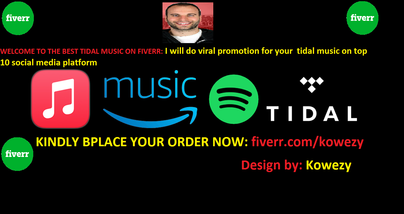 I will do viral tidal music promotion to top social media, FiverrBox