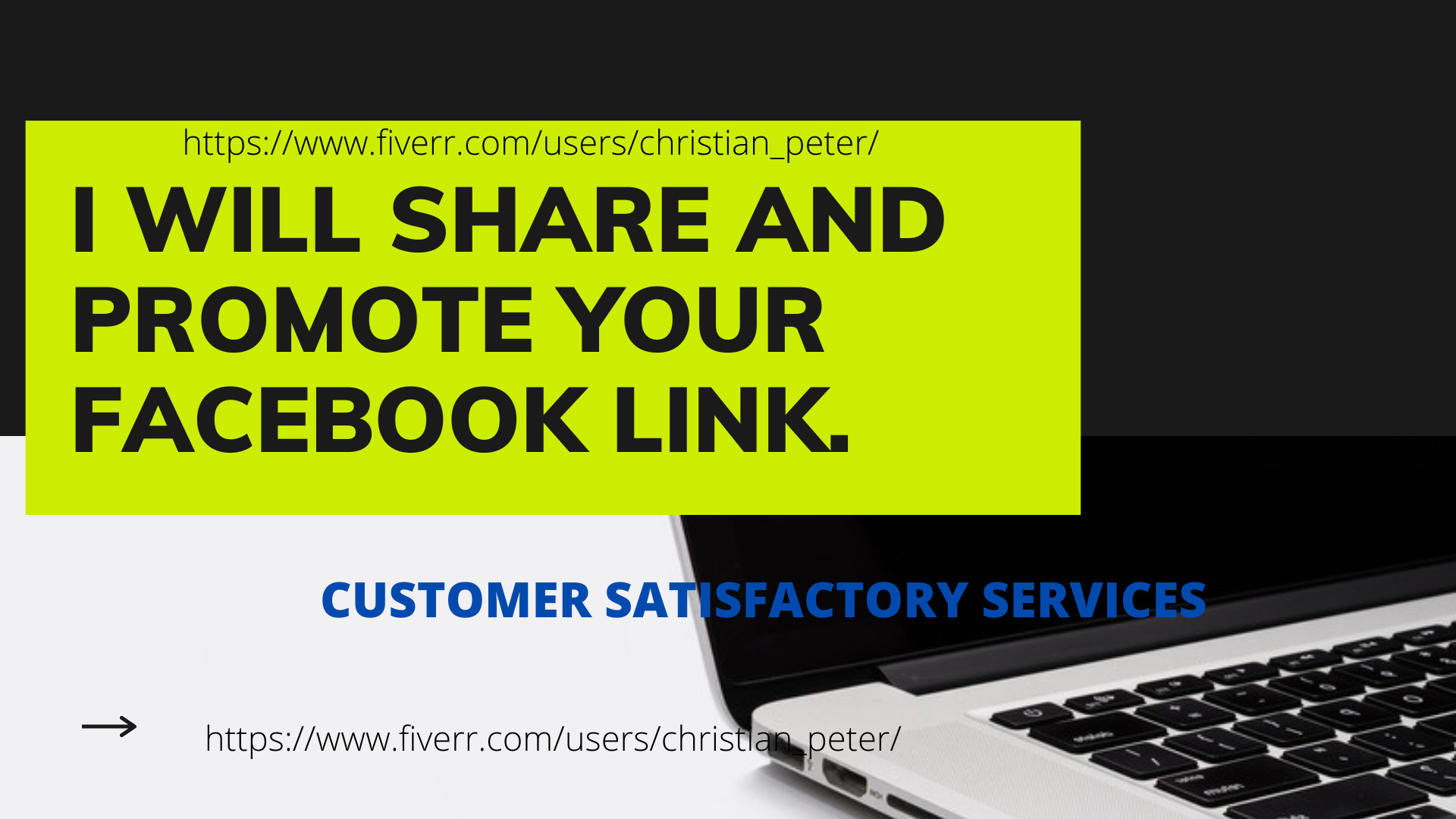 I will share and promote your link to 100k facebook audience, FiverrBox