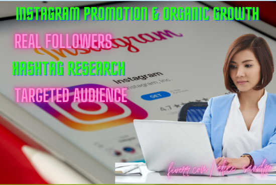 I will fast organic instagram promotion instagram growth to get you real, FiverrBox