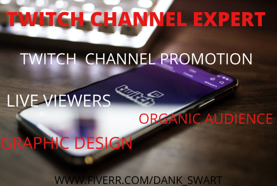 I will grow your twitch channel to drive real and active, FiverrBox