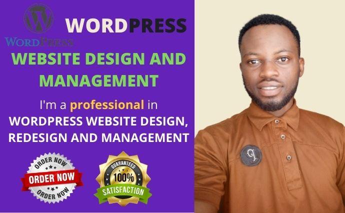 I will design a WordPress website design WordPress website redesign blog website, FiverrBox