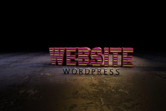 I will build a wordpress website, website design, build website, wordpress design, FiverrBox