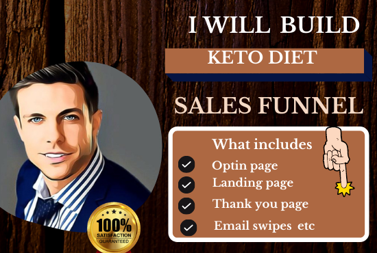 I will build your keto diet sales funnel and health and wellness, FiverrBox