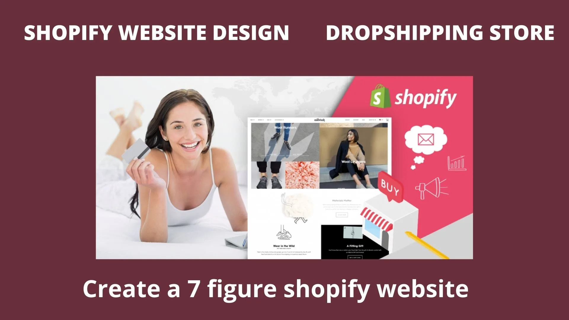 I will create shopify website design, dropshipping store, redesign shopify online store, FiverrBox