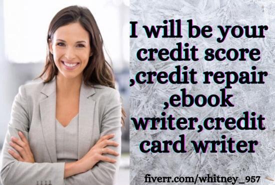 ghostwrite your credit score , credi t repair ,ebook writer and credi, FiverrBox