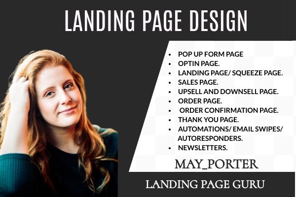 I will do kartra, builderall, getresponse, clickfunnels landing page, FiverrBox