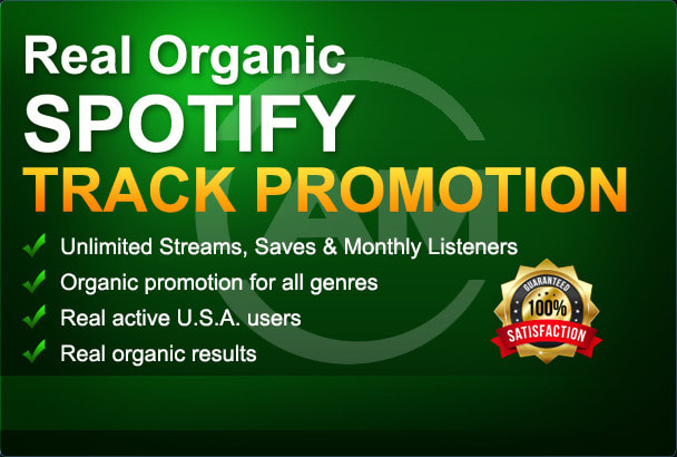 I will do organic spotify, music promotion to get real listeners, FiverrBox