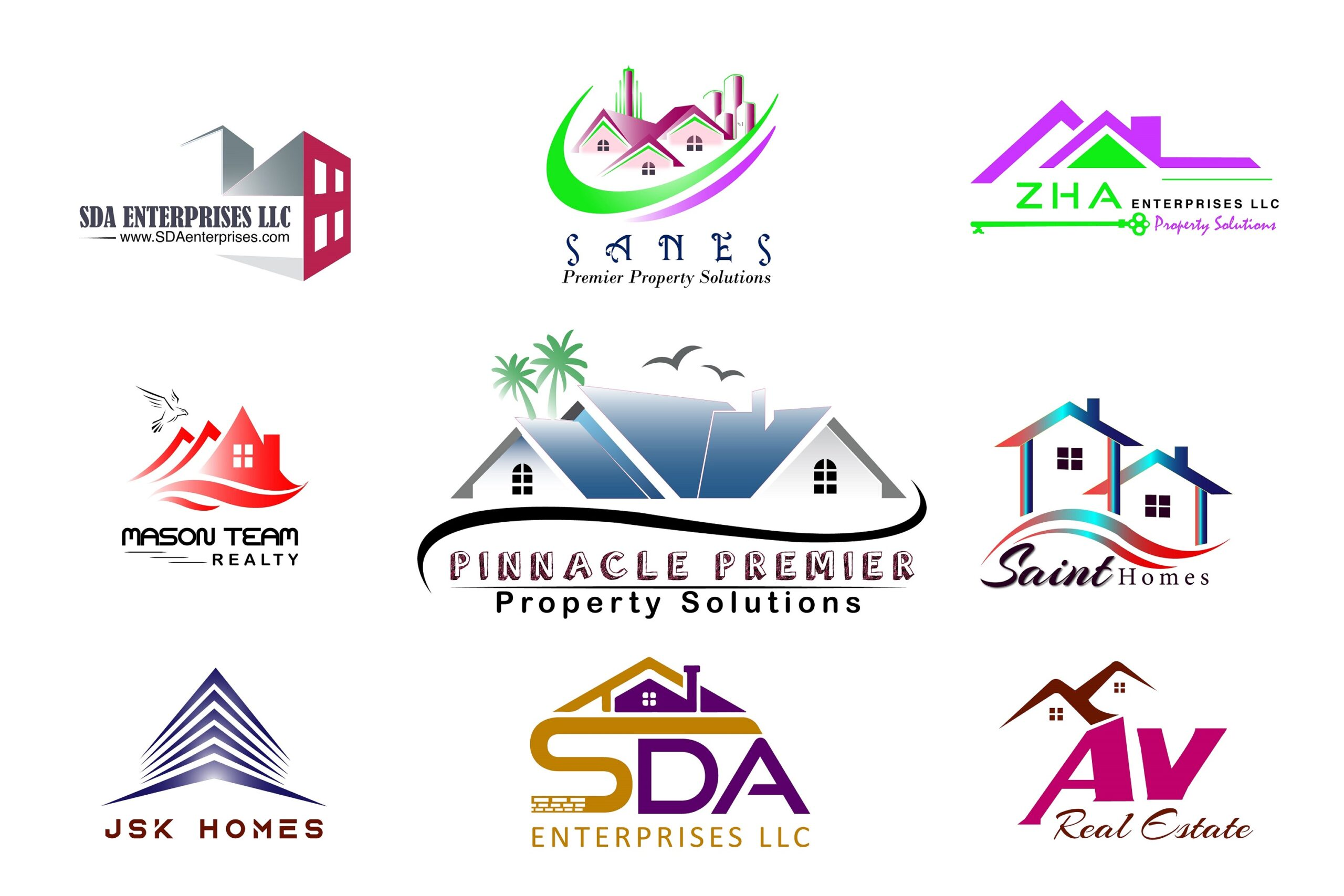 I will do property,real estate,construction,renovation and broker logo, FiverrBox