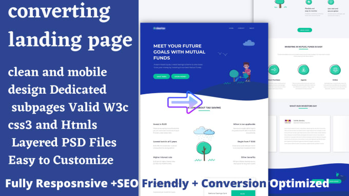 I will design samcart, shopify, leadpages, wordpress,thrivecart landing page, FiverrBox