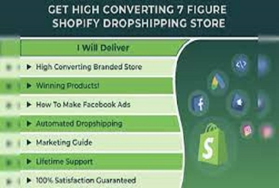 I will be your shopify virtual assistant, dropshipping store manager, FiverrBox