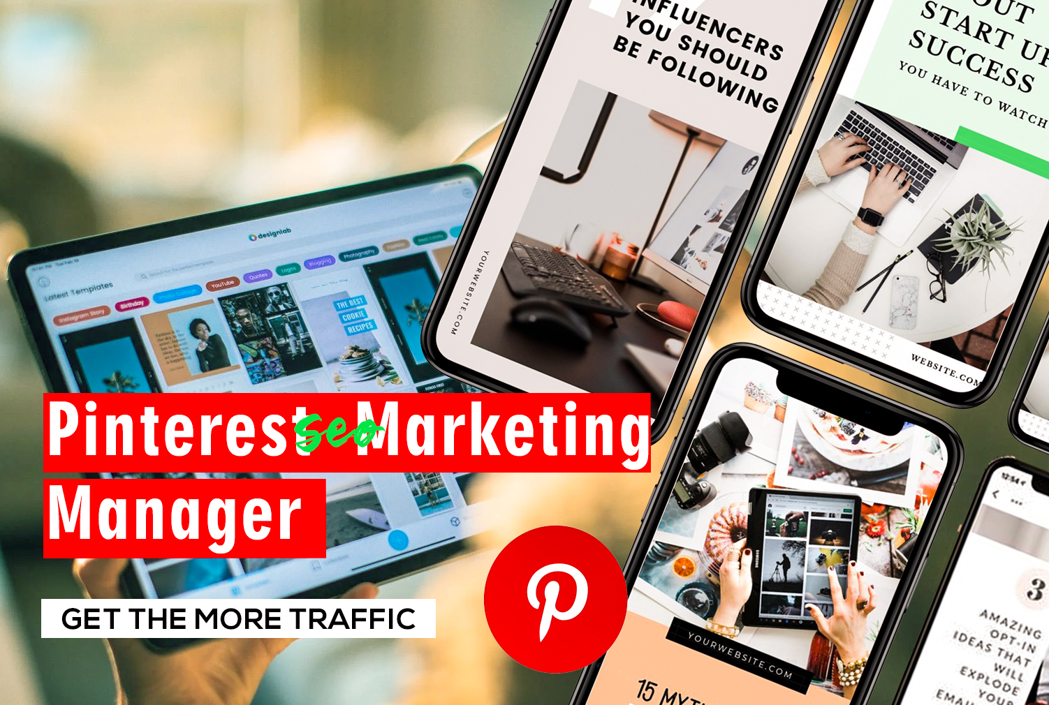 I will be your pinterest SEO marketing manager for organic traffic, FiverrBox