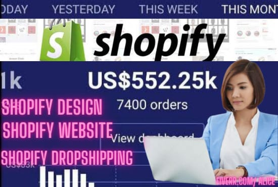 I will do shopify store design redesign shopify store shopify dropshipping, FiverrBox