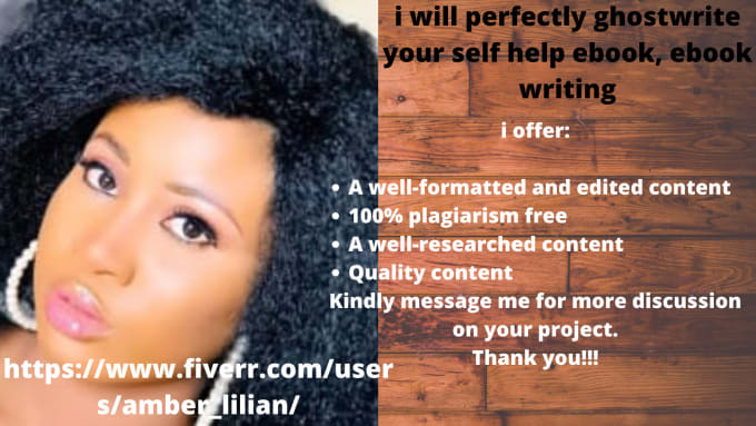 I will perfectly ghostwrite your self help ebook, ebook writing, FiverrBox