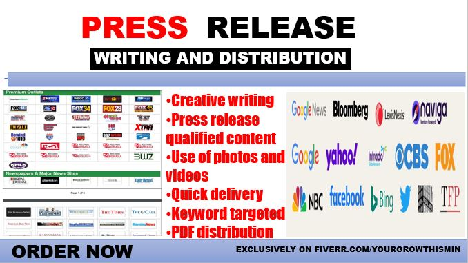 I will do press release distribution on ein to top US TV,radio, FiverrBox