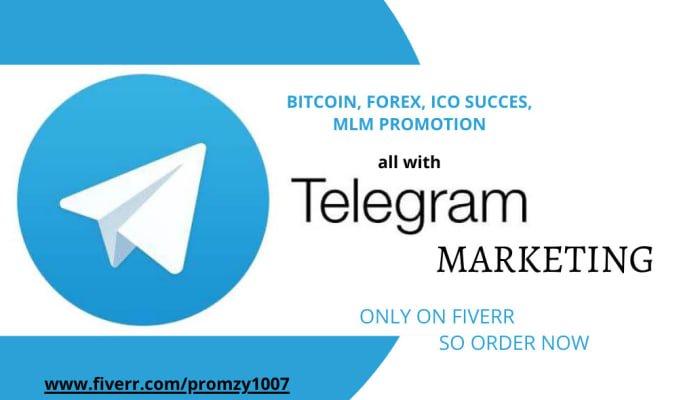 I will do telegram promotion, FiverrBox