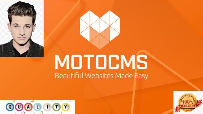 I will design website on motocms, joomla, wix, wordpress, drupal, site123, squarespace, FiverrBox