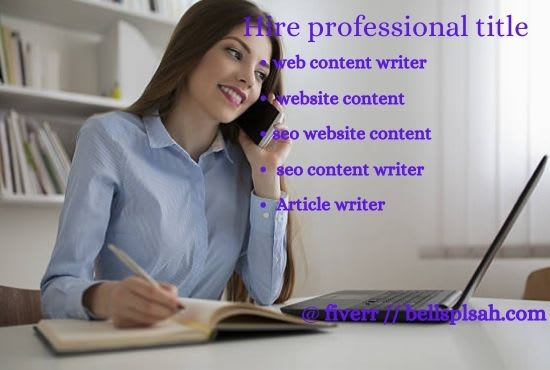 I will professional web content writer, website content, seo website content, FiverrBox