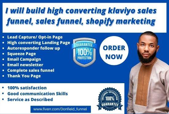 I will high converting klaviyo sales funnel email marketing, klaviyo marketing shopify, FiverrBox
