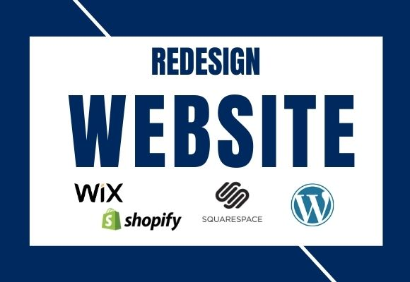I will create or redesign website on wix, wordpress, shopify, squarespace, FiverrBox