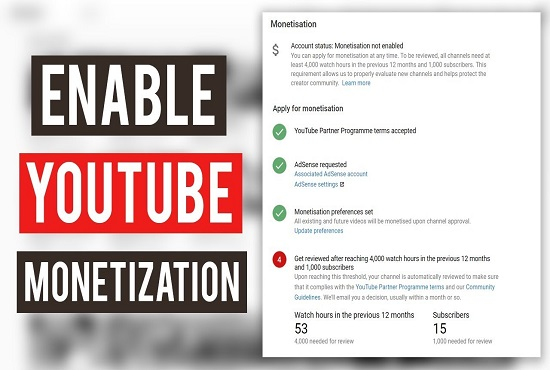 I will promote youtube channel for monetization, FiverrBox