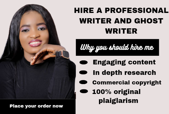 I will ghost write 30,000 words ebook, book writer, ebook writer and, FiverrBox