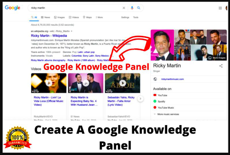 I will create verified google knowledge panel or knowledge graph, FiverrBox