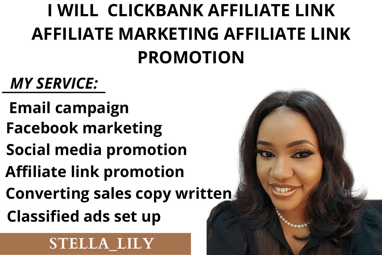I will clickbank affiliate link affiliate marketing affiliate link promotion, FiverrBox