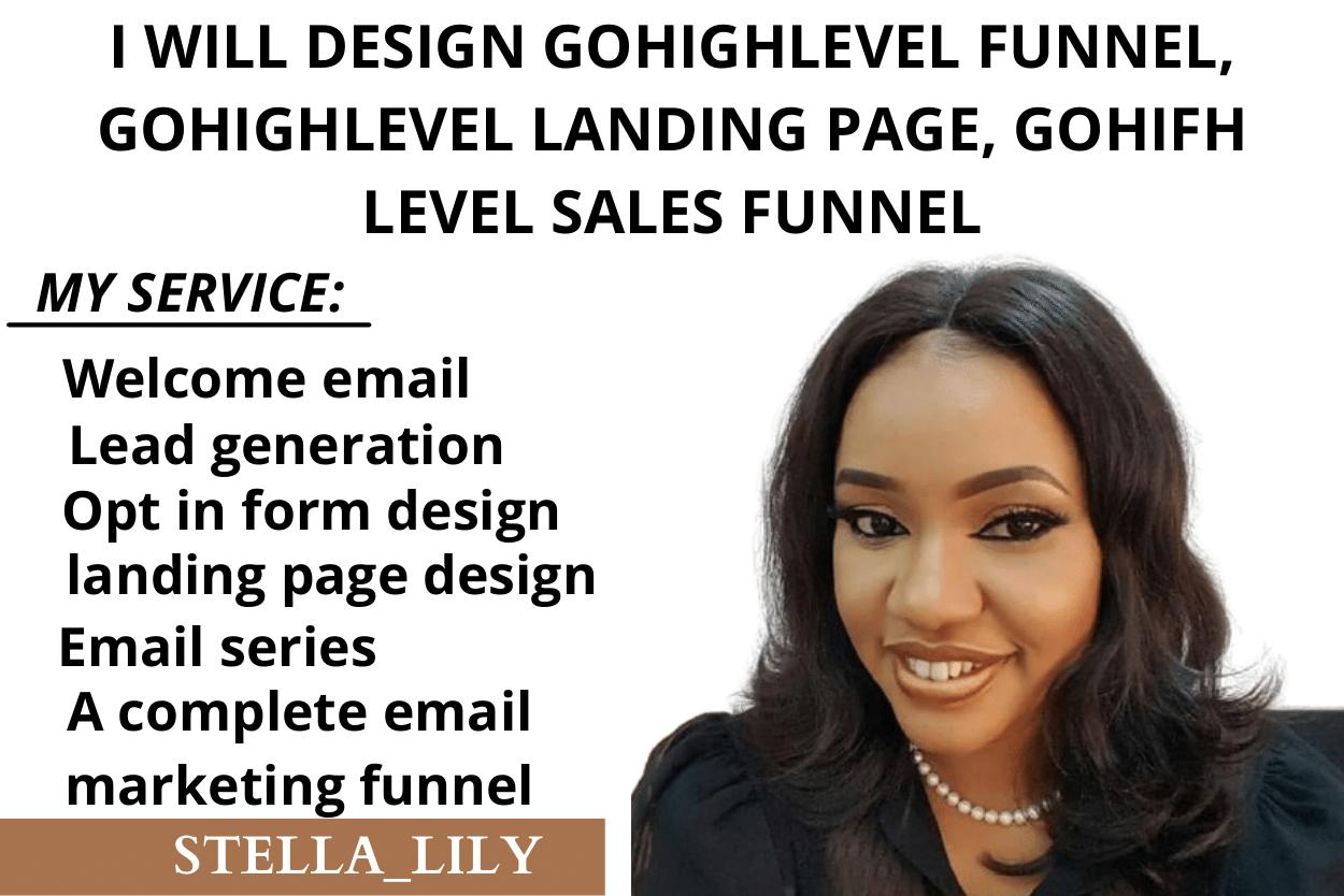 I will design gohighlevel funnel, gohighlevel landing page, gohighlevel sales funnel, FiverrBox