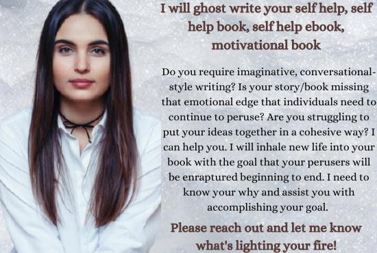 I will ghost write your self help, self help book, self help, FiverrBox