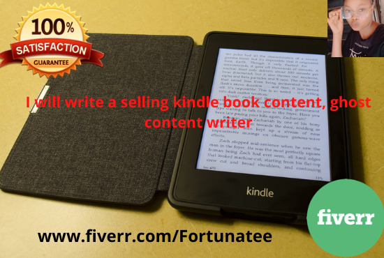 I will write a selling kindle book content, ghost content writer, FiverrBox