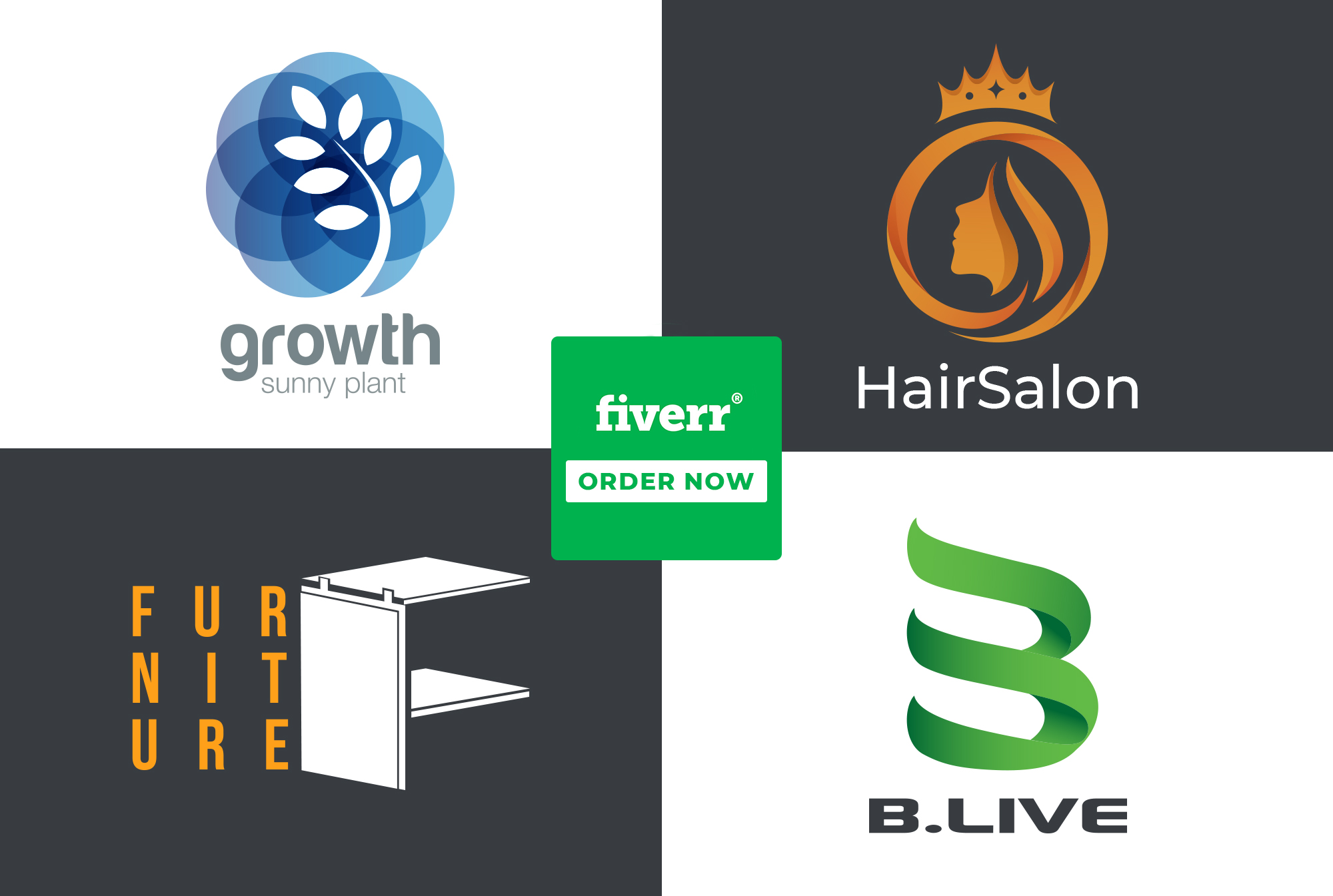 I will design a professional unique modern minimalist business logo, FiverrBox
