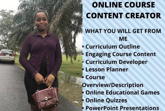 I will create online course,course content,course development,course website, FiverrBox