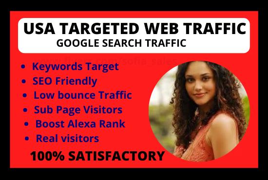 I will best tesk USA targeted web traffic, FiverrBox