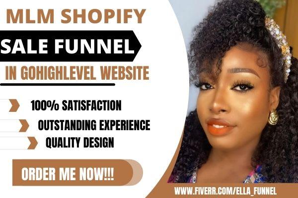 I will build MLM affliate marketing salesfunnel in gohighlevel, FiverrBox