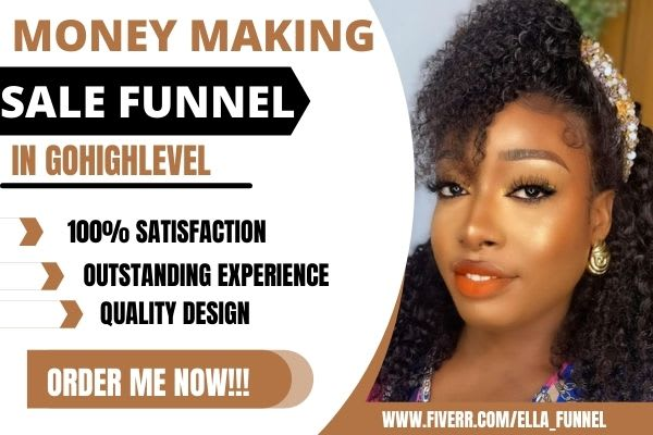 I will build money making sales funnel or website in gohighlevel sales, FiverrBox