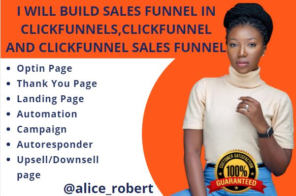 I will build sales funnel in clickfunnels, click funnel and clickfunnel sales, FiverrBox