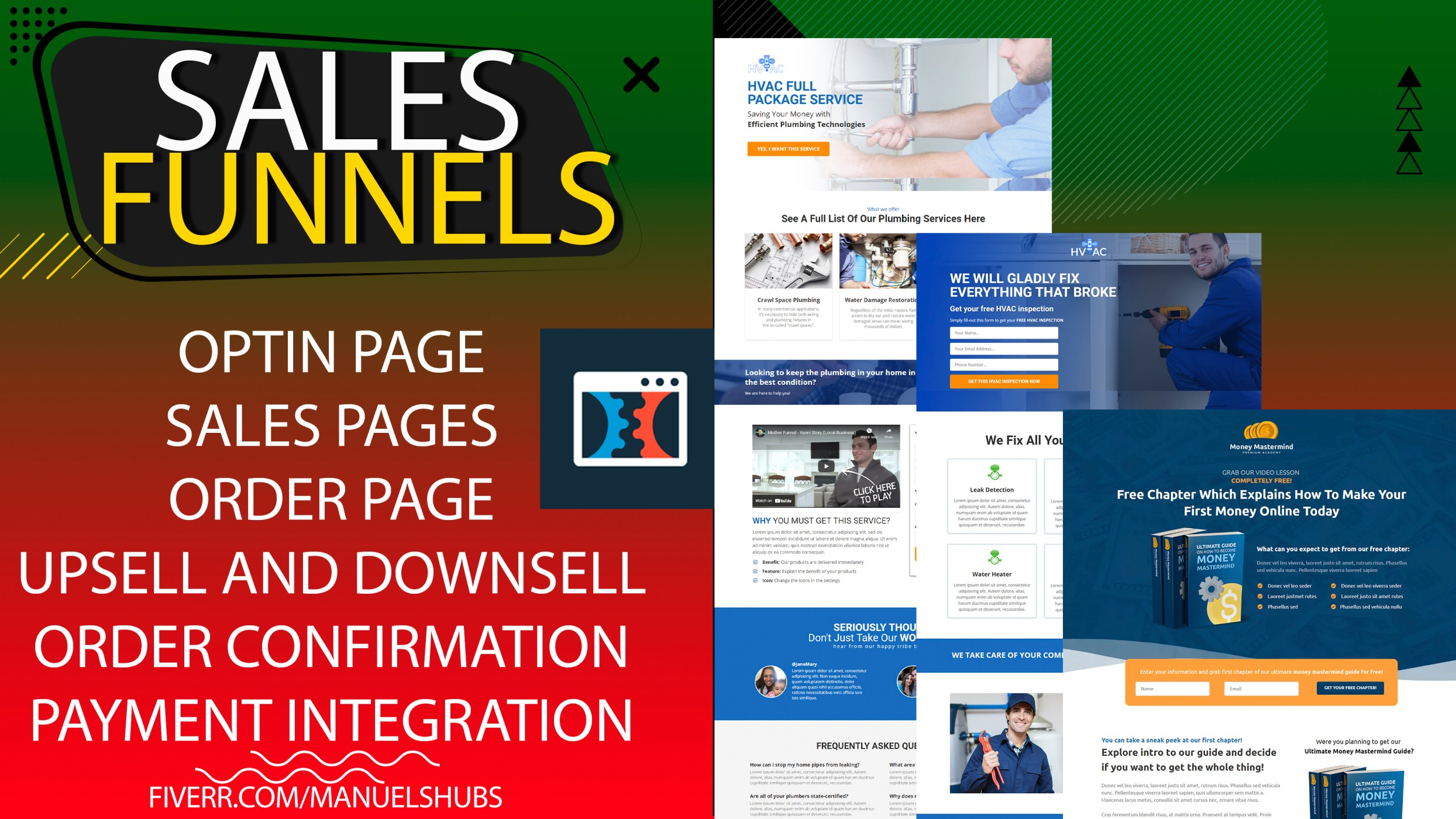 I will clickfunnels sales funnels landing page clickfunnels click funnels expert, FiverrBox